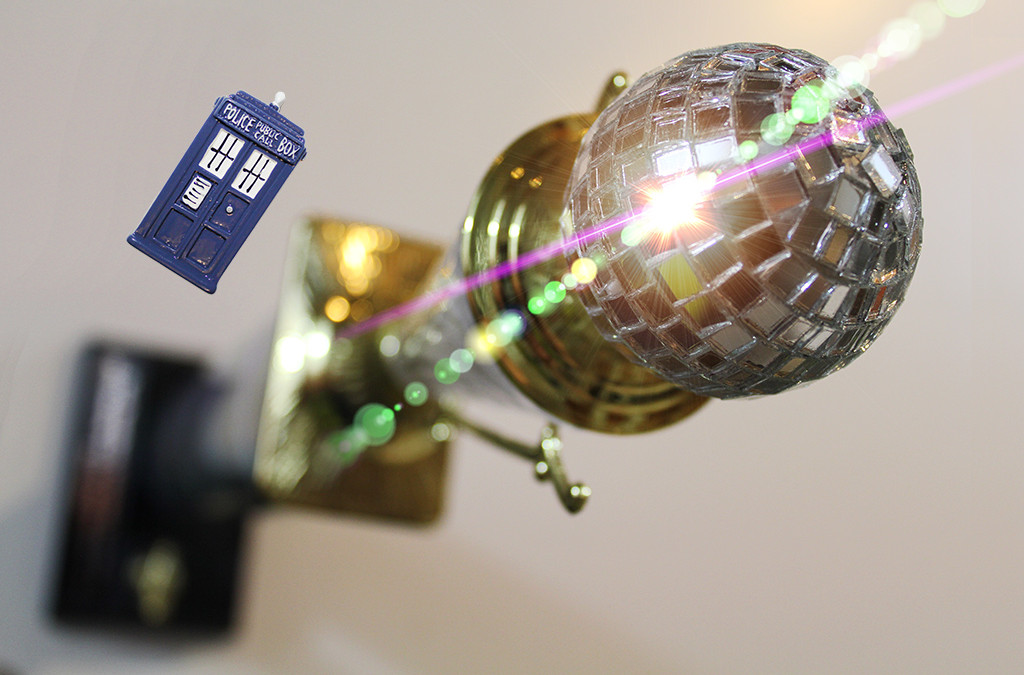 Shelf for Mirrorball Trophy with TARDIS