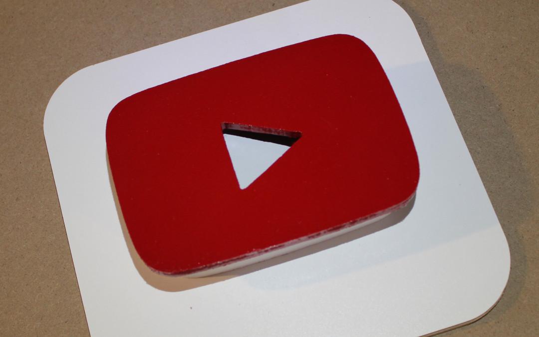 Three-Dimensional YouTube Icon Art