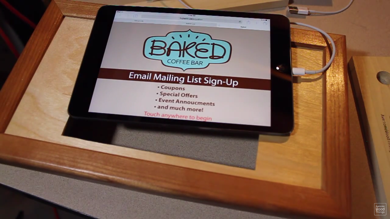 Point of sale email newsletter sign up display