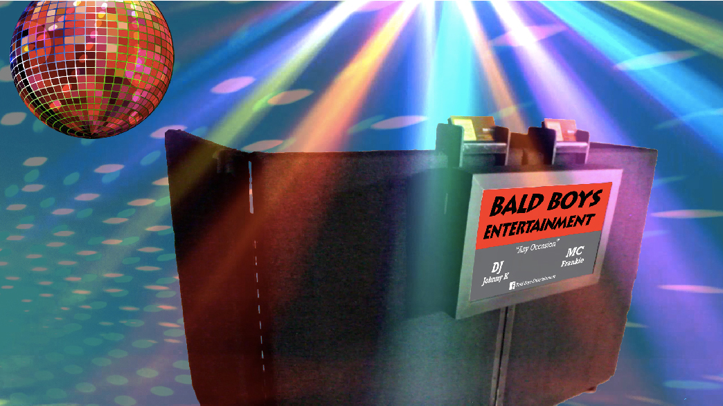Rugged DJ Screen with Glowing Sign